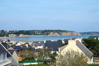 Vue mer de la terrasse du 1er étage