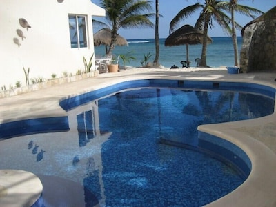 Freshwater pool with ocean view