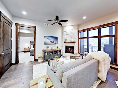 Living Room - This brand-new condo at the Blackstone Residences is professionally managed by TurnKey Vacation Rentals.