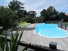 piscine chauffée et protégée