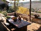 Casa de Roccia, shaded terrace to dine 'al fresco'