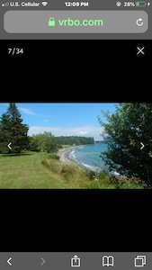 View of beach from lawn