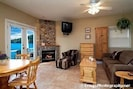 Townhouse B lower suite with only steps to Shuswap Lake beach.