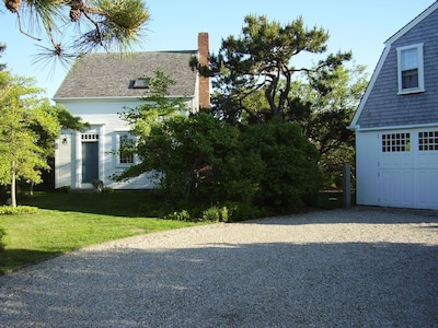 House and garage from the East