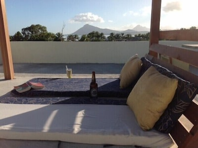 Sunsets and star gazing from our shared access roof terrace