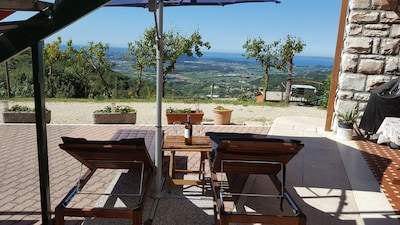Enjoy the view of Lake Garda with a chilled glass of wine with friends / family