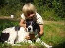 mit unserem Hof-Hund auf Du & Du