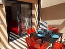 Mobilier Extérieur en Aluminium/Titane 1 Table 95x95 4 Chaises Alu 2 Transats