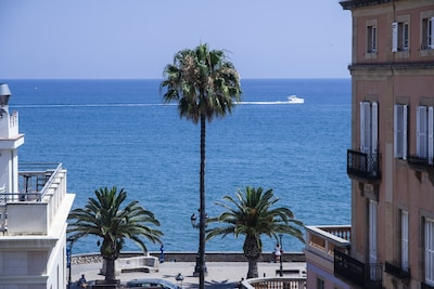 Outstanding views of the Mediterranean Sea from both of the sunny terraces.