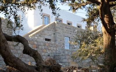Monastère de Saint-Jean le Théologien, Patmos, Égée-Méridionale, Grèce