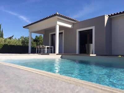 Villa Marine et sa piscine chauffée individuelle.
