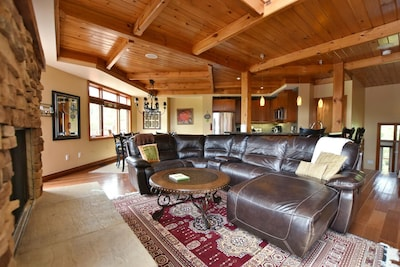 comfortable lounging in family room