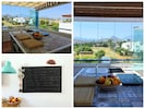 Al fresco dining on the top terrace with sea and mountain views