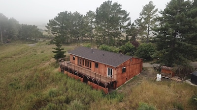 The Canyon View House sits on Irish Ridge surrounded by 70 acres of pastures