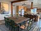The dining room table can be set up for 12 people. Perfect for a retreat.