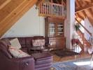 Wohnzimmer - Eßzimmer Maisonette-Wohnung