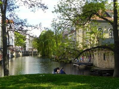 Altstadt von Erfurt mit dem Fluss 'Gera'