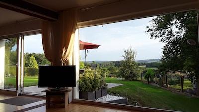 Sicht aus dem Wohnzimmer Auwald