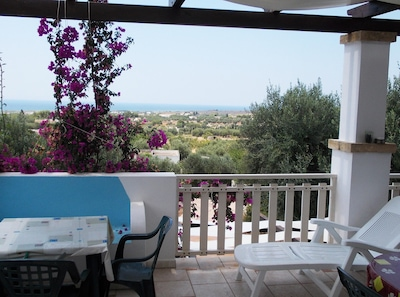 Large terrace with sea-view