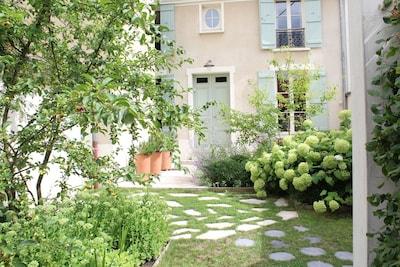 la Maison du Clos Rigaux côté jardin