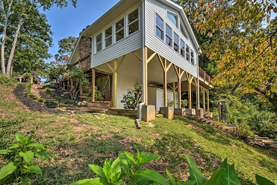 Property Exterior   2-Story Home   Private Boardwalk to Lake   Shared Dock