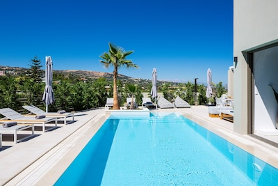 Sophisticated pool surroundings, offering a sense of genuine tranquility.