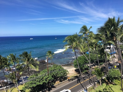 Welcome to Kona Alii.  Located in town across from the sea wall.