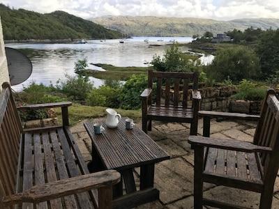 Luxury lochside home with stunning views of Loch Sunart, Salen, Hotel 400m walk