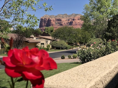 Beautiful view of Courthouse Butte from front patio