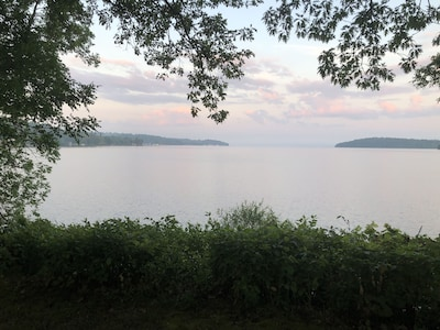 Spectacular views facing west and south on Rice Lake