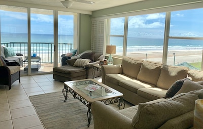 Enjoy two walls of gorgeous ocean front views from our family's large condo.