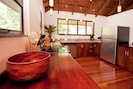 fully equipped kitchen and private chef available upon request
