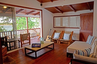 Family room upstairs, beach view, LED TV, home theater, surround sound