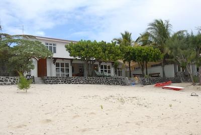 Villa view from beach