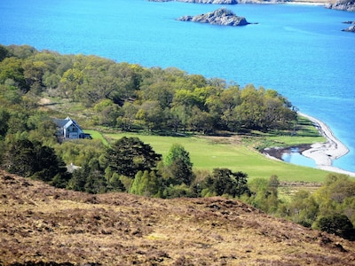 The house photographed from nearby from Rois-Bheinn