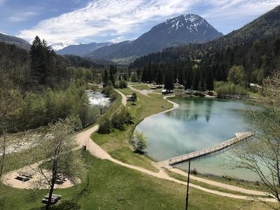 Centre with swimming, water slides, tennis,  restaurant -15 min walk/3 min drive