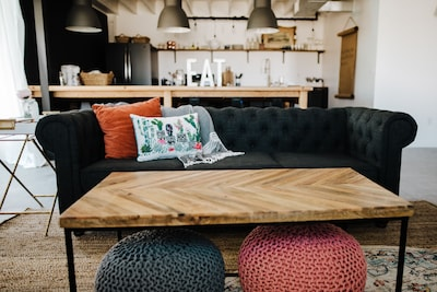 Open modern industrial design, with comfortable seating and lounging options