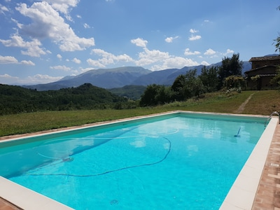 Pool and view of the Sibilli