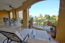 50 ft covered balcony with ample seating & new Weber grill. Check out the view!
