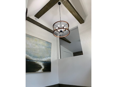Two Story Vaulted Ceiling...with exposed beams