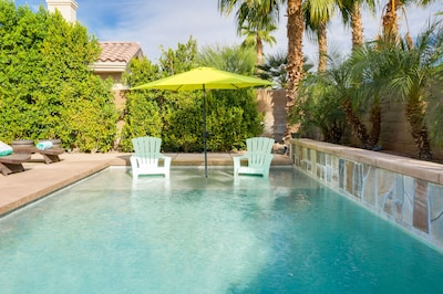 Pool - Take a relaxing dip in the 7'-deep heated pool with shallow entry.
