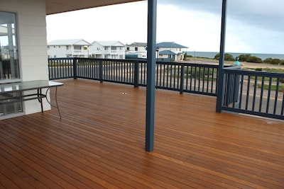 Uninterrupted ocean views from a large deck