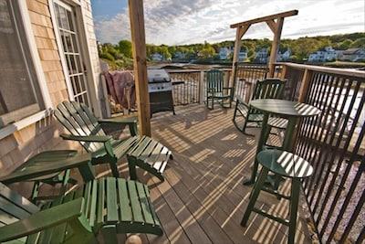 Portside's private deck