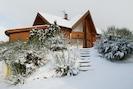 Façade sud sous la neige