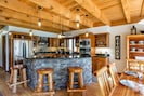Bar seating at kitchen island