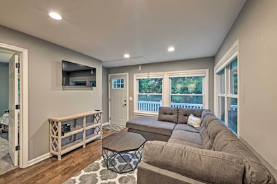 This updated cottage features 3 bedrooms and 2 baths.