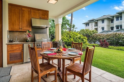 Your own private lanai with built-in viking grill (private to YOUR unit)