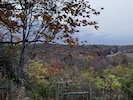 Beautiful fall view from side of home and deck