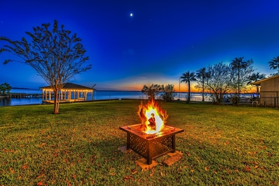 Enjoy amazing sunsets by the fire pit