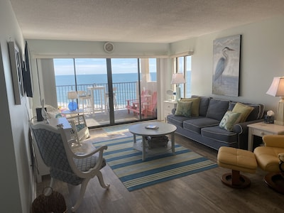 Living Area with panoramic view of Atlantic.